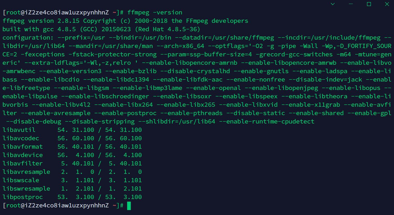 在CentOS7上安装FFmpeg0